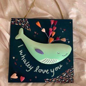 Whale Wall Sign!